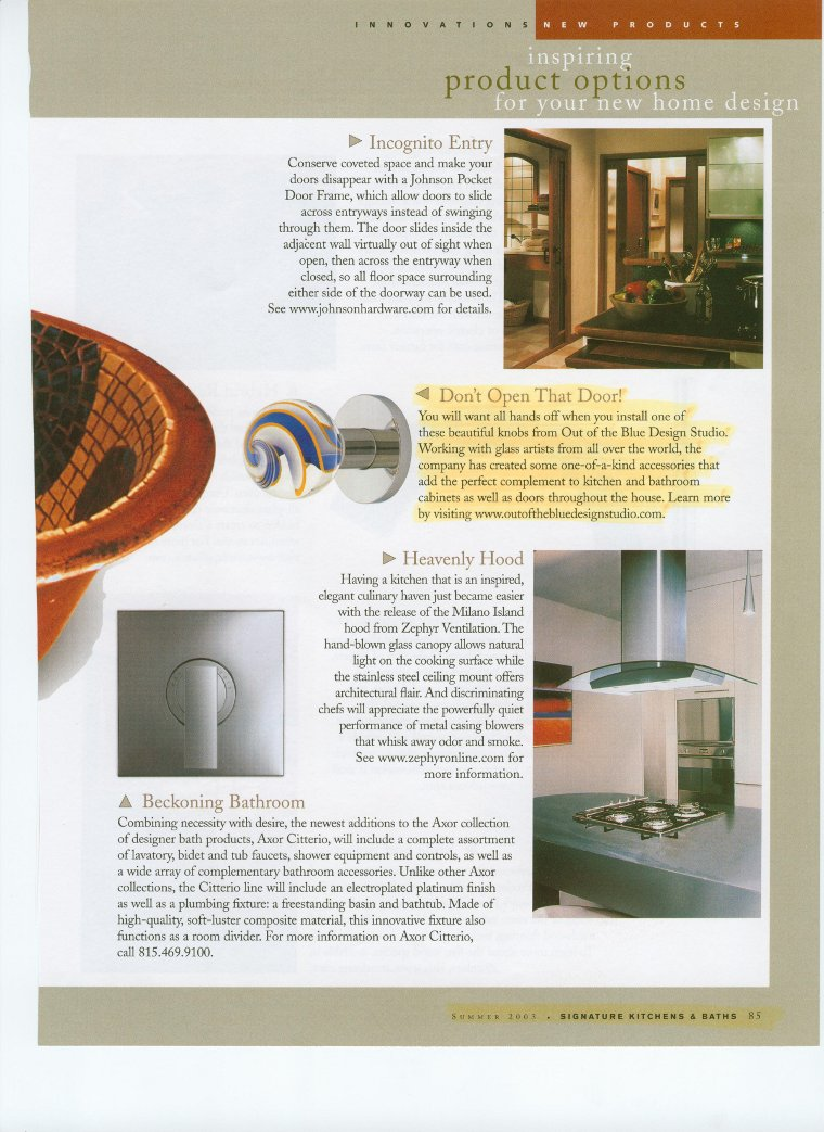 Signature Kitchens & Baths Magazine | Out Of The Blue Design ...